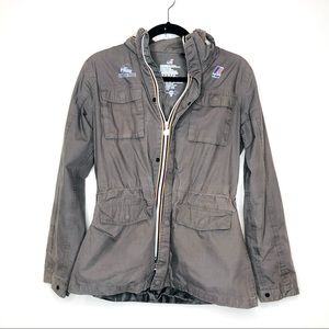 K-Way Womansfield Cotton Military Rain Jacket MED